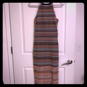 NWT Zig Zag Boho Maxi Dress